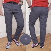 Celana Panjang Pria Chino Canvas Non Stretch Reguler Abutua Size 33-38