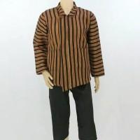 Setelan Baju Celana Surjan / Lurik Dewasa / Pakaian Adat Jawa Dewasa