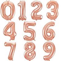 Balon Foil Angka Rose Gold 40cm