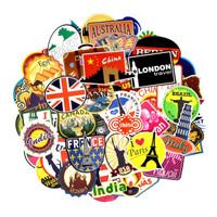 Stiker Koper Rimowa Desain Negara Dunia Travel 100 Pcs