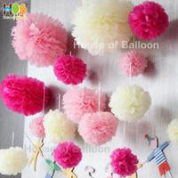Pom Pom BESAR Pompom paper ball lantern / lampion Kertas Bunga 30 cm