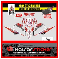 STICKER DECAL MOTOR YAMAHA XEON GT 125 PUTIH 04