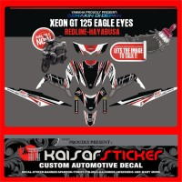 STICKER DECAL MOTOR YAMAHA XEON GT 125 STRIP MERAH