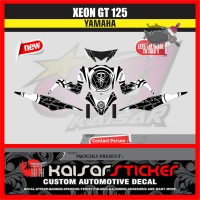 STICKER DECAL MOTOR YAMAHA XEON GT 125 STREP PUTIH
