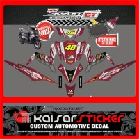 STICKER DECAL MOTOR YAMAHA XEON GT 125 ROSSI 46 FULL BODY
