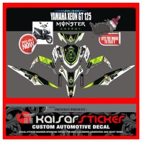 STICKER DECAL MOTOR YAMAHA XEON GT 125 MOSTER ERGY