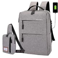 Backpack Tas Laptop Anti Theft GRATIS TAS DADA & Waterproof 8615