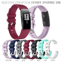Silicone Sport Strap Rubber Watch Band for FITBIT INSPIRE HR Tali Jam