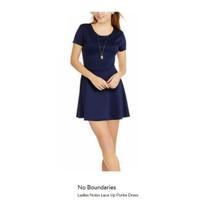 Dress Branded - No Boundaries Ladies Nobo Lace Up Ponte Dress - Navy