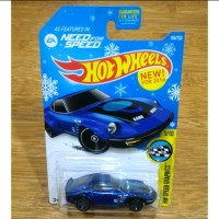 Hot Wheels Nissan Fairlady Z Blue Need for Speed Winter Snowflake Card