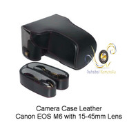Camera Case Leather For Canon EOS M6 with 15-45mm Lens