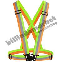 Elastic Scotlight Vest Rompi Karet Safety Proyek V Guard Hijau Oren