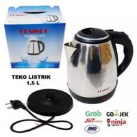 Teko Listrik Full Stainless 304 Steel 1.5 Liter