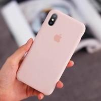 Silicone Case Original Iphone X - Pink Sand Jelly Case Anti Noda