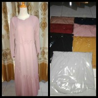 Dress muslimah mutiara glamour