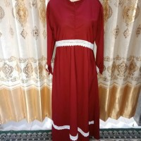 Gamis Wanita Muslimah renda putih