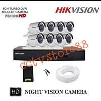PAKET CCTV 16 CHANNEL HIKVISION 8 KAMERA OUTDOOR HIKVISION 2MP 1080P