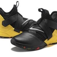 Sepatu Basket - Nike Lebron Soldier XII SFG Black Yellow - PRM