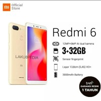 XIAOMI REDMI 6 TAM RESMI REDMI6 XIOMI RAM 3GB 32GB