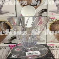 New HARIO V60 PLASTIC COFFEE DRIPPER 02 CLEAR (VD-02T)
