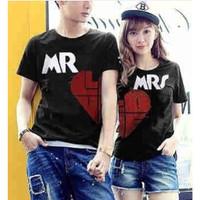 Baju Couple Kaos Oblong Pasangan Soulmate Mr Love 11171