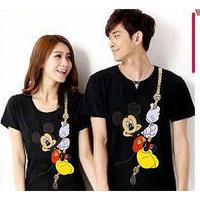 Baju Couple Kaos Oblong Pasangan Soulmate Mickey 11168