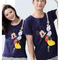 Baju Couple Kaos Oblong Pasangan Soulmate Mickey 11169