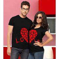 Baju Couple Kaos Oblong Pasangan Soulmate Red Love 11166
