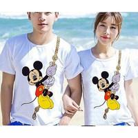 Baju Couple Kaos Oblong Pasangan Soulmate Mickey 11170