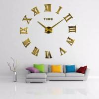 Jam Dinding Raksasa Besar DIY\Giant Wall Clock 80 - 130cm - GOLD/EMAS