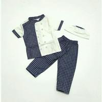 setelan gamis navy Baju Muslim Koko Anak bayi Laki 6 7 8 9 10 11 bulan