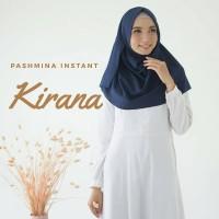 PREMIUM! KIRANA PASHMINA INSTANT Jilbab Pashtan Diamond Crepe Instan
