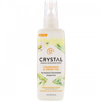 Crystal Body Deodorant, Mineral Deodorant Spray, Chamomile & Green Tea