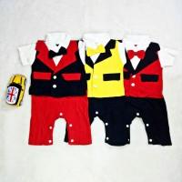 Baju Anak Bayi Laki-laki Tuxedo Jumper Pesta Kondangan Dasi Kupu