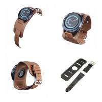 Samsung Gear S2 Classic 20MM 20 MM - Tali Jam Strap Kulit Cuff Band - Black
