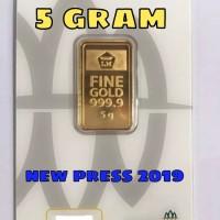Emas antam 5 gram new press logam mulia bersertifikat asli antam 5 gr