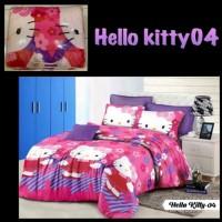 NEW I LOVE HELLO KITTY Bedcover set sprei ukuran 180X200 bahan tidak