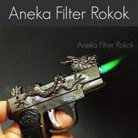 Korek Api Pistol Naga Api Bara   Single Jet Flame Dragon Gun Lighter