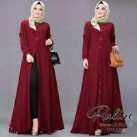 Gamis Muslim wanita Syari Dewasa Baju jubah Cewek Maxi Dress Casual
