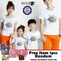 Kaos Keluarga / Baju Family (2 anak dan 2 dewasa) - Baby Shark