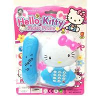 Mainan Anak Perempuan Telepon Hello Kitty Music Phone Telpon