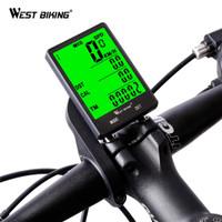 West Biking Speedometer Sepeda LCD 2.8 Inch Waterproof Aksesoris Seped