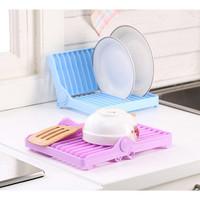 Rak Piring Lipat Pengering Gelas Portable Dish Rack Drying Foldable