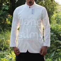Baju Koko Safari Alhabib Putih Polos - Baju Takwa Alhabib Putih