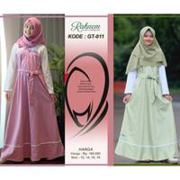 gamis remaja + rahnem gt 11 + pakaian anak tanggung + baju muslim