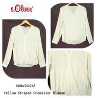 S.Oliver V-neck Striped Blouse brand murah