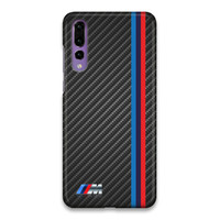 Indocustomcase BMW M3 Stripe Carbon Hard Case Cover For Huawei P20 Pro