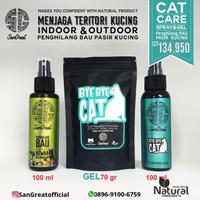Pengusir Kucing SanGreat ByeBye Cat Gel & Spray - Penghilang Bau Pasir