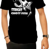 tshirt distro Serikat ghost FISH hitam