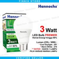 Hannochs LED Bulb PREMIER 3 watt - Bola Lampu Bohlam LED PREMIER